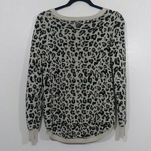 Billabong Sweaters - Animal print cropped sweater